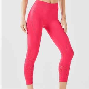 Pink Cutout Fabletics Leggings Yoga Pants